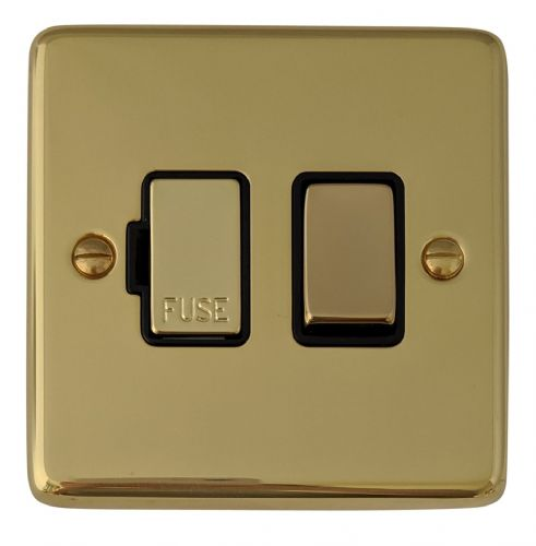 G&H CB357 Standard Plate Polished Brass 1 Gang Fused Spur 13A Switched